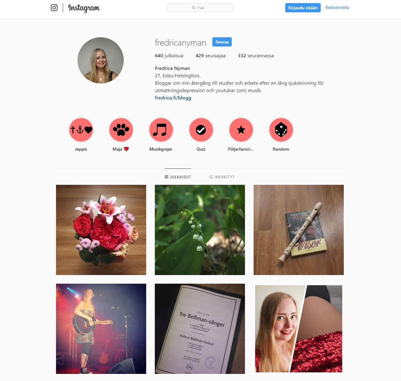 instagram inte följa